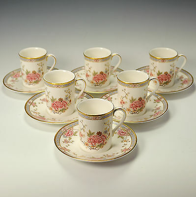 Royal Doulton Canton H5052 Six Coffee Cans / Cups & Saucers - Firsts