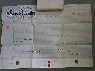 Vellum Transfer Of Mortgage Warwickshire 1906