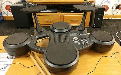 Clifton Electronic Portable Drum Kit Drumkit with pedals for Bass Drum & Hi-Hat