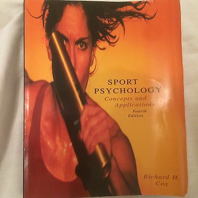 Sports Psychology Concepts And Applications 4th Edition By Richard H. Cox