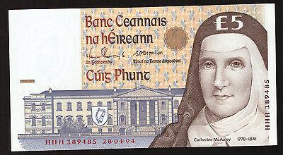 Ireland 5 Pounds Replacement HHH 1994 Uncirculated.