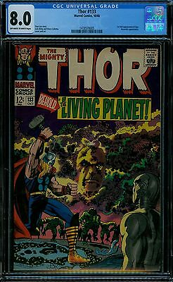 Thor #133 Cgc 8.0 Off-White To White Pages 1St Eon Guardians Movie