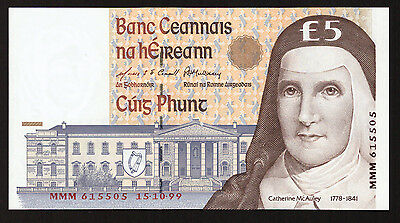 Ireland 5 Pounds C Series. 1999 MMM replacement. Uncirculated