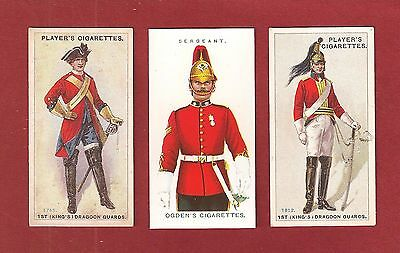 The 1st KINGS DRAGOON GUARD KDG's  Troopers & Sergeant Uniforms 3 cards