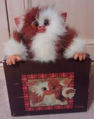 """RARE 9"""" GIZMO Mogwai GREMLINS Boxed Plush Toy Spanish by Quiron Warner Brothers"""