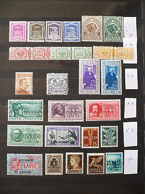 ITALY ● COLLECTION/SELECTION–28– STAMPS ● MINT, Mostly NH
