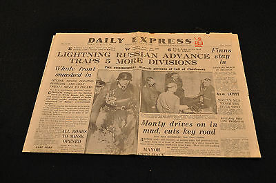 Daily Express: June 28, 1944: Lighting Russian Advance Traps 5 More Divisions