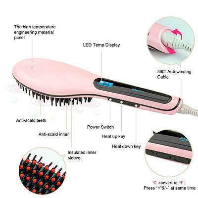 Fast Hair Straightener Brush HQT-906 [127