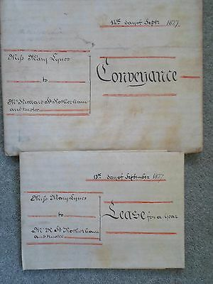 2 Velum Documents Coleshill Coventry 1827