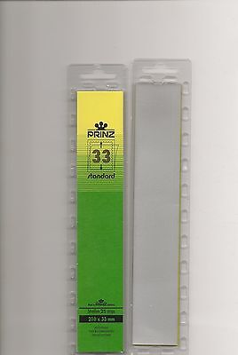 PRINZ STAMP MOUNTS CLEAR 33 mm STRIPS x25 IN PACK