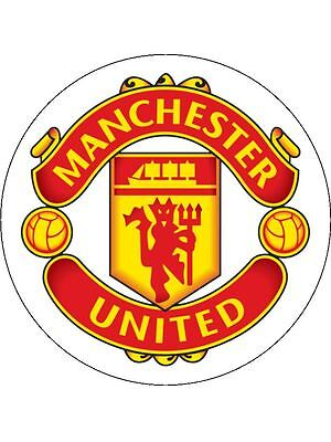 """Manchester United 7.5"""" Round Icing Sheet, Cake Topper"""