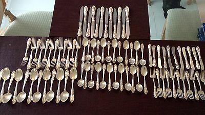 King Richard By Towle Sterling Silver Flatware Set For 12 Service 82 Pieces