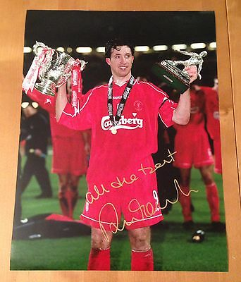 Signed Robbie Fowler 16X12 Photo With Proof & Coa