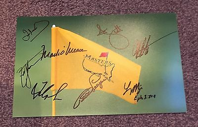 Signed Masters Golf  Photo 12X8 By 8 Past Winners With Photo Proof & Coa