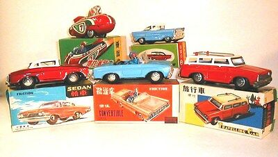 China Tin Toy lot of 5