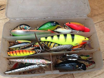 Fishing Lures Vintage Collection Of Spinners And Lures Box Hooks  Joblot