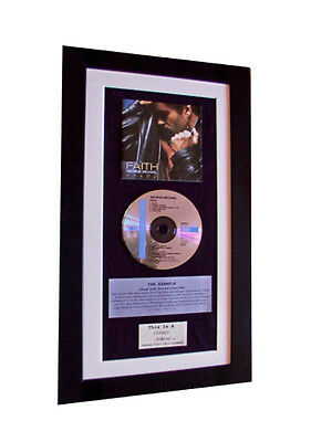 GEORGE MICHAEL Faith CLASSIC CD Album TOP QUALITY FRAMED+EXPRESS GLOBAL SHIPPING