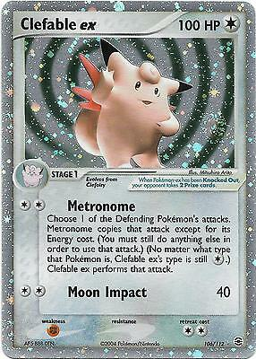 Pokemon Ex Card : Clefable 106/112 (Ex Fire Red Leaf Green)