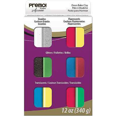 Premo Sculpey Multipack 1 Ounce 12/Pkg-Mixed Effects 715891619230