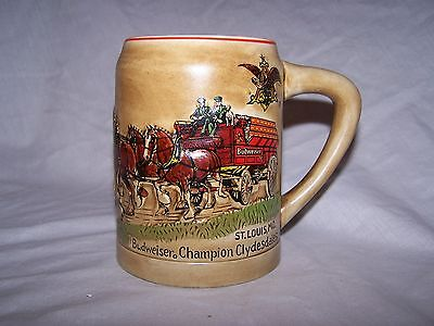 Anheuser Busch Champion Clydesdales FIRST HOLIDAY STEIN