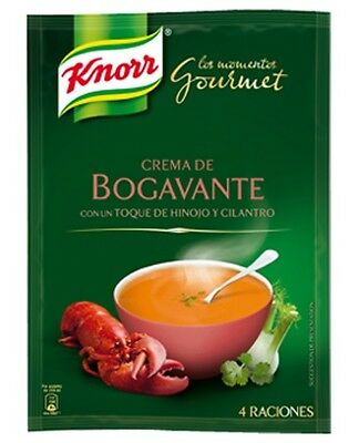 Gourmet Lobster Cream KNORR with fennel & cilantro 4 servings Spain Spanish Food