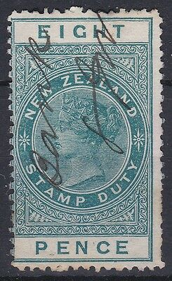 NEW ZEALAND, CIRCA 1882 PENCE STAMP DUTY, wmk F5, FINE USED, PEN CANCEL