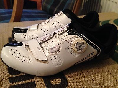 Specialized Expert Carbon Road Cycling Shoes BOA Wire. Size 7 , 41 White