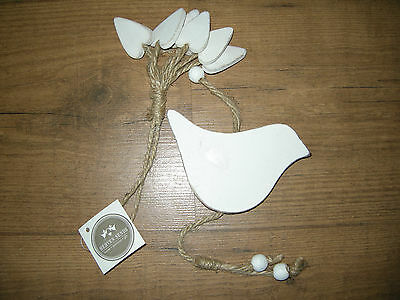 Wooden White String  Hanging Bird Hearts Decoration Home Heaven Sends New