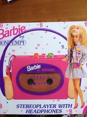 Barbie By Bontempi Stereo player With Headphones Bnwot