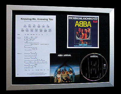 ABBA Knowing Me Knowing You LTD TOP QUALITY CD FRAMED DISPLAY+FAST GLOBAL SHIP