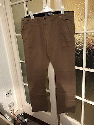 Twisted Soul Light Brown Trousers Waist 36 Length 32