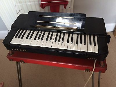 Hohner Organ Vintage With Case & Stand Organa Piano Electric