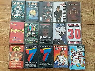 Various 80s/90s cassette tapes