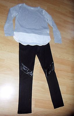 girls set leggings with top for age 6-7-8 years old