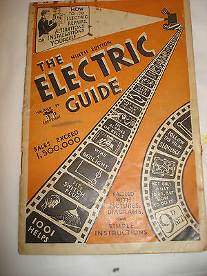 "Vintage Booklet ""the Electric Guide"" -  1940's-50's"