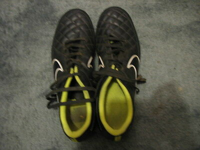 Nike Tiempo Firm Ground Black Football Boots Mens Size UK 12