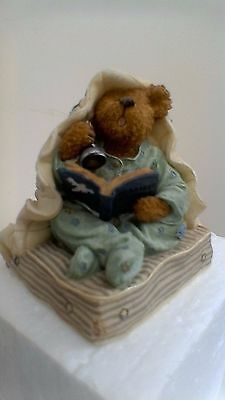 Boyds Bears resin sculpture, Fraidy bear...Did You Hear That, No:228407