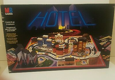 Hotel MB Games Board Game 1986