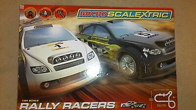 Micro Scalextric Rally Racers Race Set, 1:64 Scale G1100, Playset Cars and Track