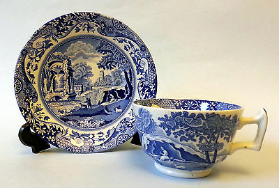 Spode Blue Italian Cup And Saucer