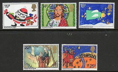 Sg1170-1174 1981 Xmas ~ Unmounted Mint Gb