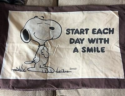 Vintage Snoopy Pillow Case Start each Day with a Smile