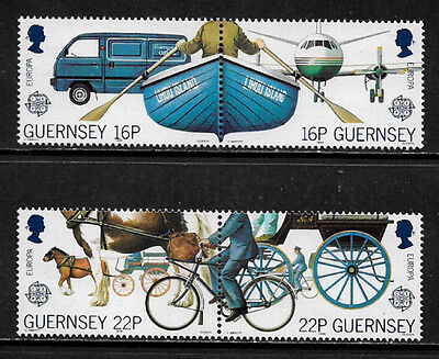 Guernsey 381-4 Mint Never Hinged Set in Pairs - 1988 Europa