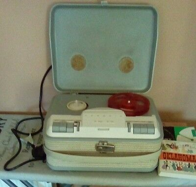 Vintage-Grundig Tk14 Reel To Reel Tape Cassette+3 X (V/a) Tapes.(No Sound)