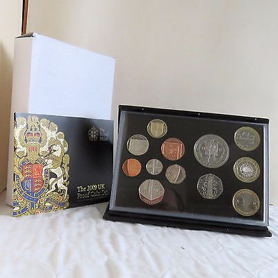 2009 UK 12 COIN DELUXE PROOF SET WITH SCARCE KEW 50 PENCE - complete