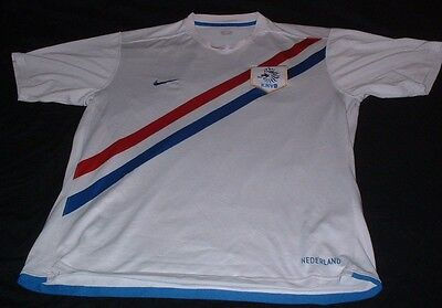 Holland Dutch Netherlands Nederlands Football XL Extra Large Mans Nike Away Top