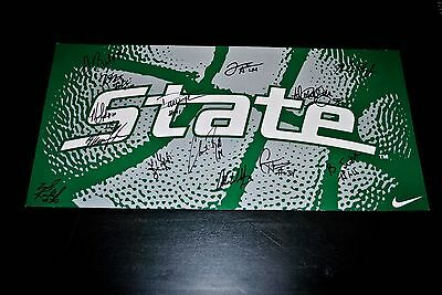 Rare Michigan State Basketball Nike Promotional Poster - Autographed