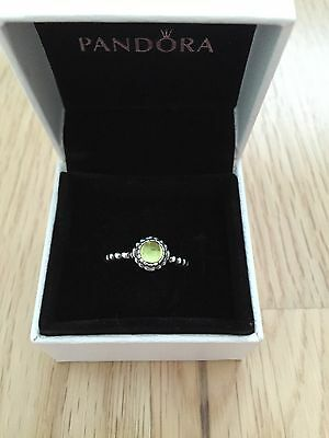 Pandora Sterling Silver August Birthstone Ring Size 52