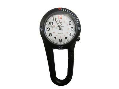 Black Clip Watch with White Dial for Paramedic Ambulance Nurse Medic Police EMT
