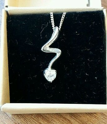 """Ladies Silver 925 Necklace - 18"""" Chain - Valentines Gift"""